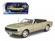 1968 Chevrolet Camaro SS 396 Convertible Gold 1/18 Diecast Car By Maisto 31683