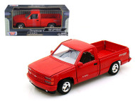1992 Chevrolet SS454 Pick Up Truck Red 1/24 Scale Diecast Model By Motor Max 73203