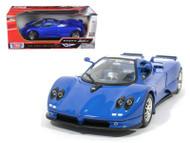 Pagani Zonda C12 Blue 1/18 Scale Diecast Car Model By Motor Max 73147