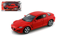 Mazda RX-8 Red 1/24 Scale Diecast Car Model By Motor Max 73323