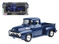 1956 Ford F-100 Pickup Truck Blue 1/24 Scale Diecast Model By Motor Max 73235