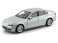 BMW 535i Silver 1/24 Scale Diecast Car Model By Welly 24026 NO RETAIL BOX