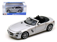 Mercedes Benz SLS AMG Roadster Silver 1/24 Scale Diecast Car Model By Maisto  31272