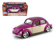 Volkswagen Beetle VW Purple Hot Low Rider 1/24 Scale Diecast Car Model By Welly 22436
