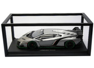 Kyosho 1/18 Scale Lamborghini Veneno Grey With Green Body Stripes Car Model 09501
