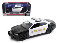 2011 Dodge Charger Pursuit San Gabriel California Police 1/24 Scale Diecast Car Model By Motor Max 76936