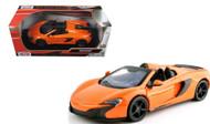 McLaren 650S Spider Orange 1/24 Scale Diecast Car Model By Motor Max 79326