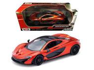 McLaren P1 Orange 1/24 Scale Diecast Car Model By Motor Max 79325