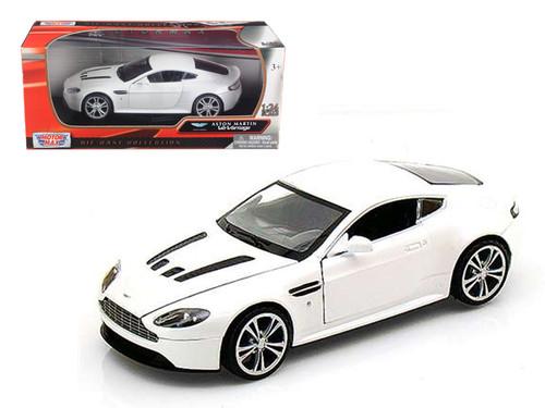 Aston Martin V12 Vantage White 1/24 Scale Diecast Car Model By Motor Max 73357