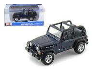 Jeep Wrangler Rubicon Blue 1/27 Scale Diecast Car Model By Maisto 31245