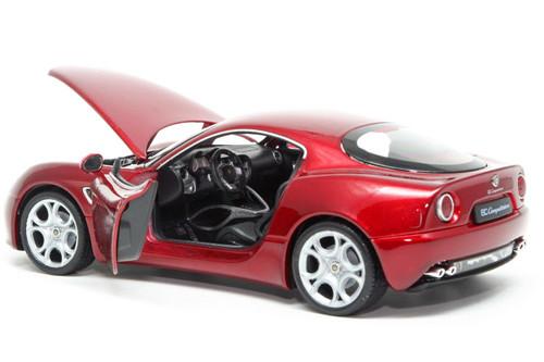 Alfa Romeo 8C Competizione Red 1/18 Scale Diecast Car Model By Welly 18013