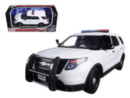 2015 Ford Police Interceptor Utility Light Bar Unmarked White 1/24 Scale By Motor Max 76959