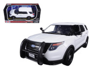 2015 Ford Police Interceptor Utility Slick Top No Light Bar Unmarked White 1/24 Scale By Motor Max 76960