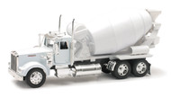 Newray 1/32 Scale Kenworth W900 Cement Mixer White Truck Model 10533
