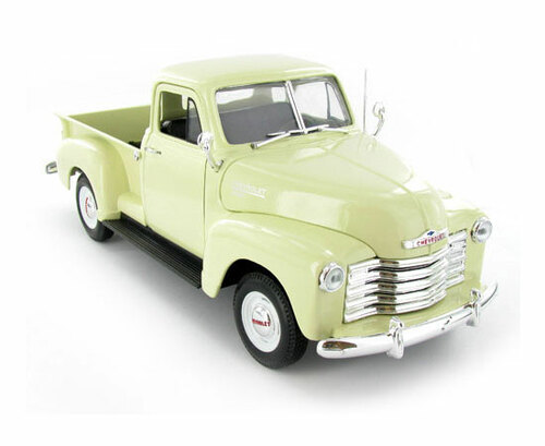 1953 Chevrolet 3100 Pickup Truck Beige 1/18 Scale Diecast Model By Welly 19836