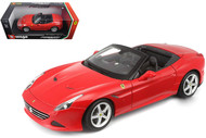 Ferrari California T Open Top Red 1/18 Scale Diecast Car Model By Bburago 16007