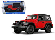 2014 Jeep Wrangler Willys Edition Red 1/18 Scale Diecast Model By Maisto 31676
