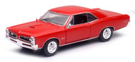 Newray 1/24 Scale Muscle Car Collection 1966 Pontiac GTO Red Diecast Car Model 71853