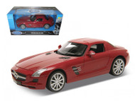 Mercedes Benz SLS AMG Gullwing Red 1/24 Scale Diecast Car Model By Welly 24025