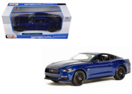 2015 Ford Mustang GT Blue 1/24 Scale Diecast Car Model By Maisto 31508