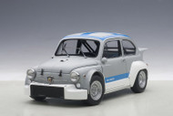 Fiat Abarth 1000 TCR Matt Grey / Blue Stripes 1/18 Scale Diecast Car Model By AUTOart 72642