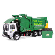 Waste Management Mack Terrapro Fel CNrG Refuse Front End Loader With Trash Bin Truck 1/34 Scale Diecast Model By First Gear 10-4006