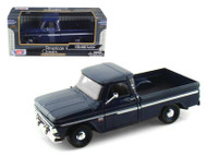 1966 Chevrolet C-10 Fleetside Pickup Truck Dark Blue 1/24 Scale Diecast Model By Motor Max 73355