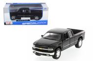 Chevy Silverado Extra Cab Truck Black 1/27 Scale Diecast Model By Maisto 31941