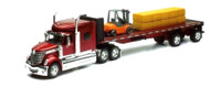International Lone Star Trailer Semi Truck With Forklift And Hay Bales 1/32 Scale By Newray 10393