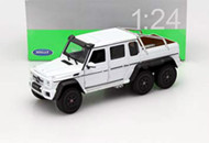 Mercedes Benz G 63 AMG 6X6 White SUV 1/24 Scale Diecast Model By Welly 24061
