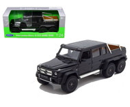 Mercedes Benz G 63 AMG 6X6 Black SUV 1/24 Scale Diecast Model By Welly 24061
