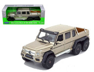 Mercedes Benz G 63 AMG 6X6 Gold SUV 1/24 Scale Diecast Model By Welly 24061