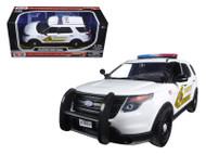 2015 Ford Police Interceptor San Bernardino Sheriff Police SUV 1/24 Diecast  Model By Motor Max 76962