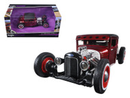 1929 Ford Model A Candy Red Outlaws 1/24 Scale Diecast Car Model By Maisto 31354