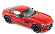 Norev 1/18 Scale 2015 Mercedes Benz AMG GT Red Diecast Car Model 183496