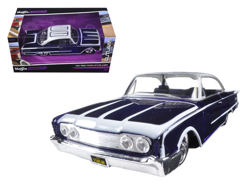 1960 Ford Starliner Purple Outlaws 1/26 Scale Diecast Car Model By Maisto 31038
