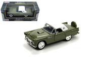 1956 Ford Thunderbird T-Bird Green 1/24 Scale Diecast Car Model By Motor Max 73312