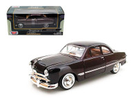 1949 Ford Coupe Burgundy 1/24 Scale Diecast Car Model By Motor Max 73213