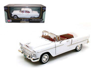 1955 Chevrolet Bel Air White 1/18 Scale Diecast Car Model By Motor Max 73184