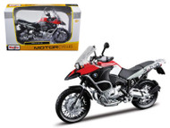 BMW R1200GS Red Motorcycle 1/12 Scale Diecast Model By Maisto 31157