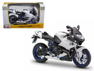 BMW HP2 Sport White & Black Motorcycle Bike 1/12 Scale By Maisto 31159