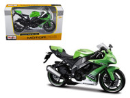 2010 Kawasaki Ninja ZX-10R Green Motorcycle Bike 1/12 Scale By Maisto 31187
