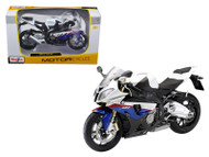 BMW S1000RR White Red Blue Motorcycle 1/12 Scale Diecast Model By Maisto 31191