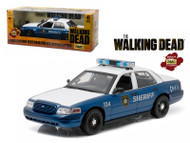 2001 Ford Crown Victoria Police Interceptor The Walking Dead 1/18 Scale Diecast Car Model By Greenlight 12957