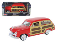 1949 Ford Woody Wagon Red 1/24 Scale Diecast Car Model By Motor Max 73260