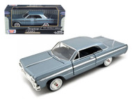 1964 Chevy Impala Blue 1/24 Scale Diecast Car Model By Motor Max 73259