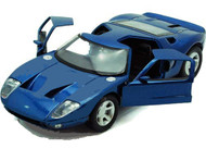 Ford GT Concept Blue 1/24 Scale Diecast Car Model By Motor Max 73297