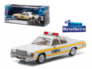 1977 Dodge Royal Monaco Illinois Police Blues Brothers 1/43 Scale Diecast Car Model By Greenlight 86424