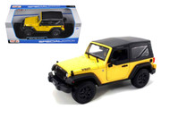 2014 Jeep Wrangler Willys Edition Yellow 1/18 Scale Diecast Model By Maisto 31676