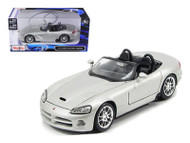 2003 Dodge Viper SRT-10 Silver 1/24 Scale Diecast Car Model B Maisto 31232
